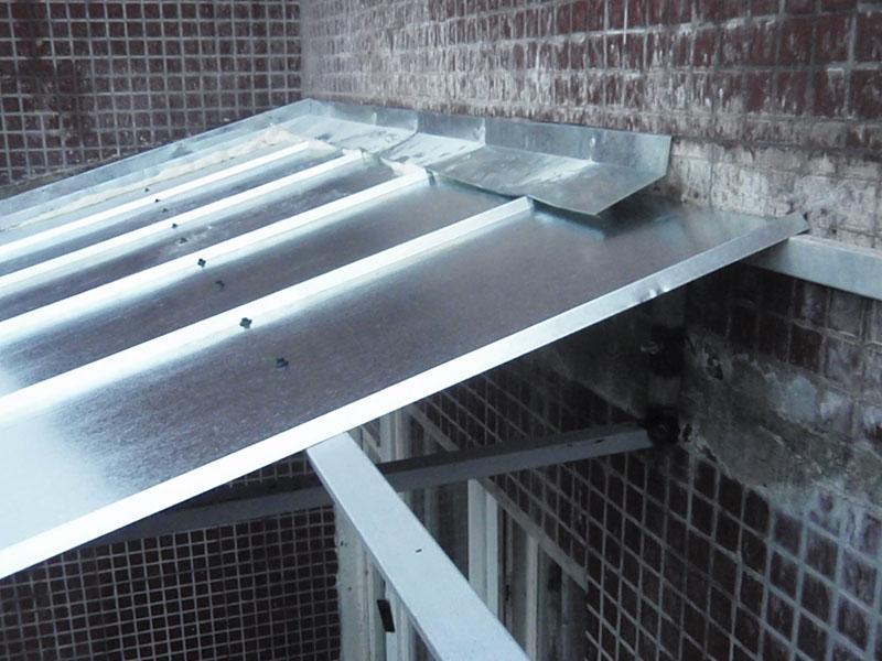 Козырьки и отливы для балкона..