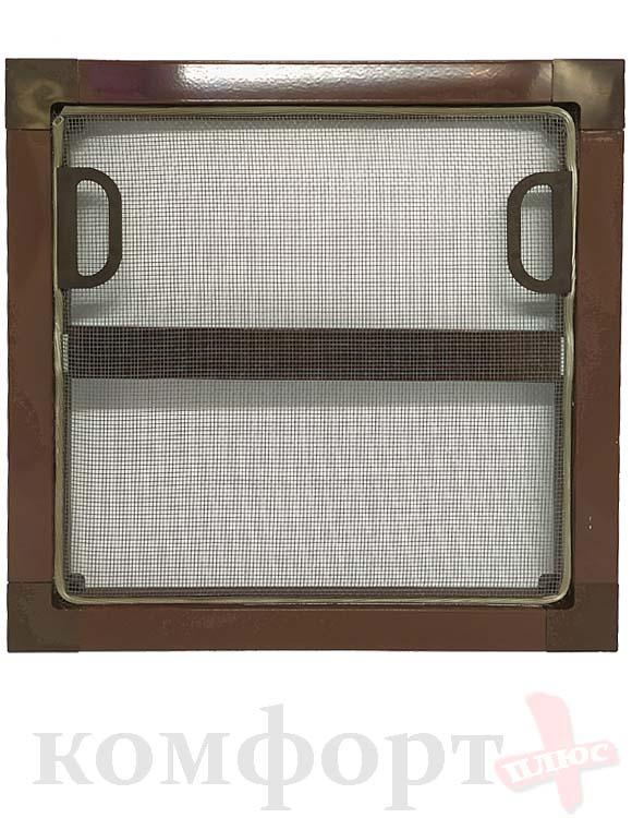 Москитная сетка в сборе (стандартная) коричневая, 1 метр квадратный