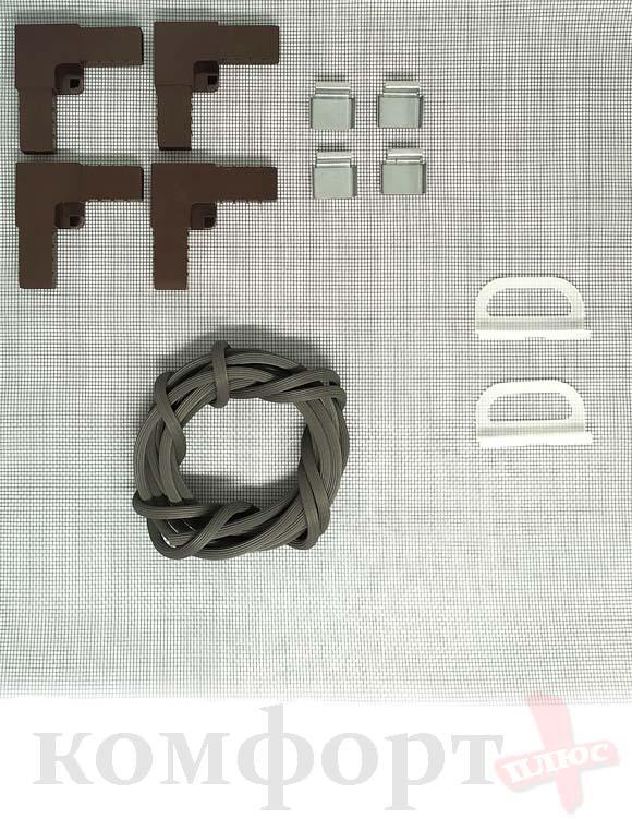 Рем. Комплект для ремонта Москитной Сетки ,коричневый