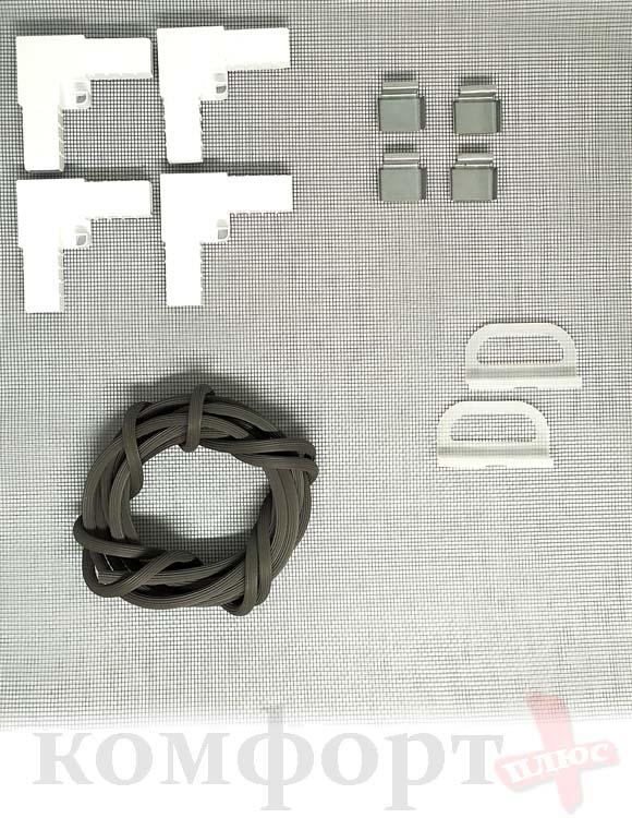 Рем. Комплект для ремонта Москитной Сетки ,белый