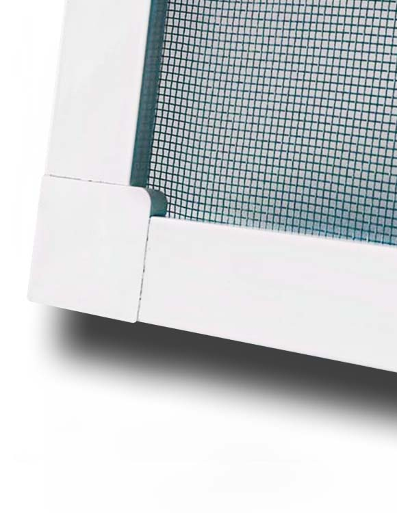Москитная сетка на окно, рамка белая, стоимость за 1 м.кв