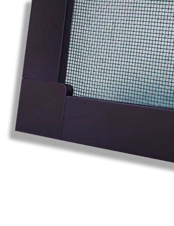 Москитная сетка на окно, рамка коричневая, стоимость за 1 м.кв