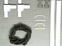 Комплект для москитной сетки ,белый, для сеток до 0,81×1,56 м