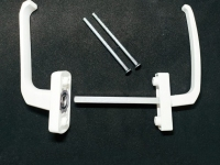 Ручка оконная двухсторонняя асимметричная узкая