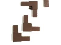 Уголок для профиля Москитной сетки коричневый 4 шт